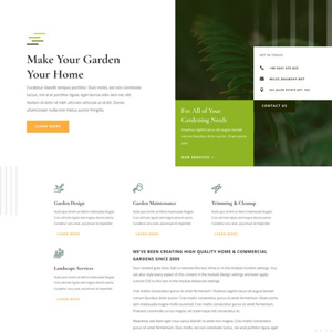 Gardener Website Template