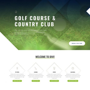 Golf Course Website Template