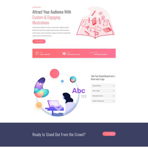 Graphics Illustrator Website Template