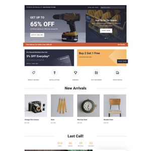 Hardware Store Website Template