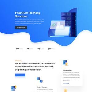 Hosting Company Website Template