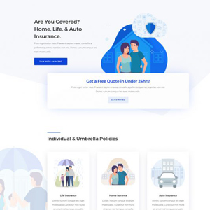 Insurance Agency Website Template