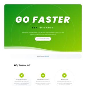 Internet Service Provider Website Template