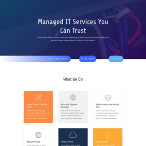 IT Services Website Template