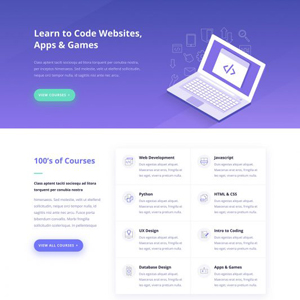 Learning Management Website Template