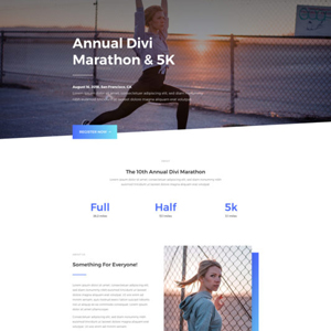 Marathon Website Template