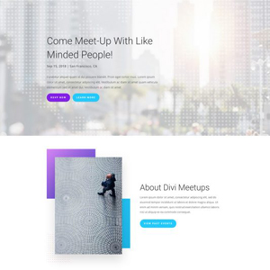 Meetup Website Template