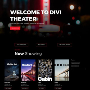 Movie Theater Website Template