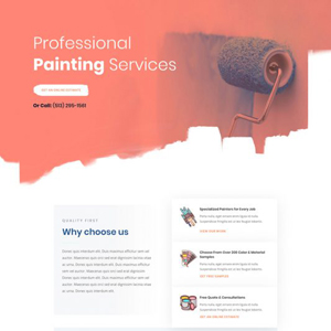 Painting Service Website Template