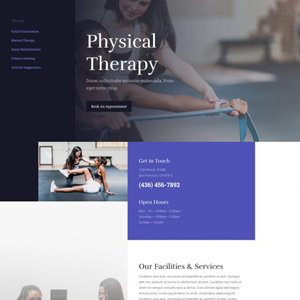 Physical Therapy Website Template