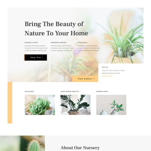 Plant Nursery Website Template