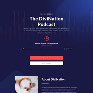 Podcast Website Template