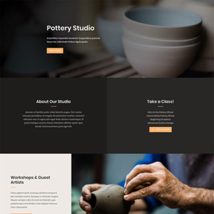 Pottery Studio Website Template