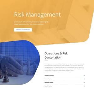 Risk Management Website Template
