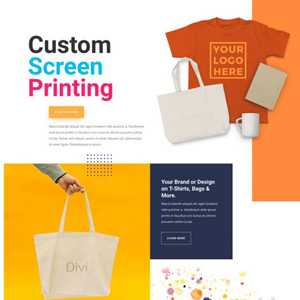 Screen Printing Website Template