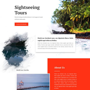 Sightseeing Website Template