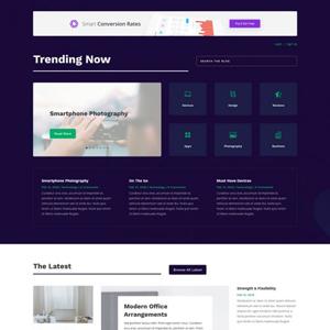 Technology News Website Template