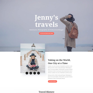 Travel Blog Website Template