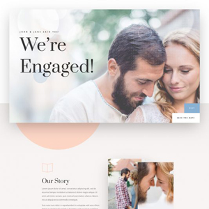 Wedding Engagement Website Template