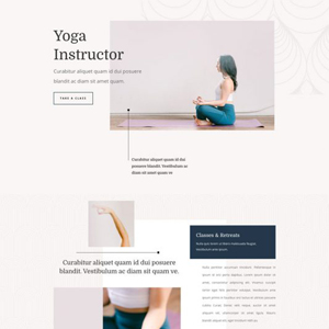 Yoga Instructor Website Template