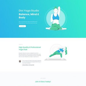 Yoga Studio Website Template